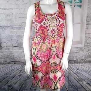 Johnny Wash floral print Dress Sz L